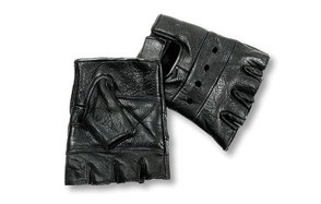 interstate leather men's basic fingerless gloves