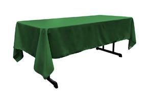 linen poplin polyester rectangular table-cloth