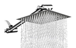 mesun 12 inch high pressure showerhead with 11 inch arm
