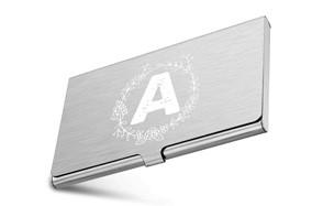 monogrammed business card holder