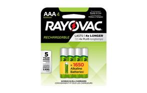 rayovac rechargeable aaa batteries