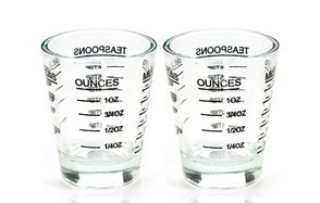 shot glasses measuring cup