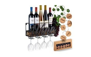 wine time wall mounted wine rack - designed by anna stay
