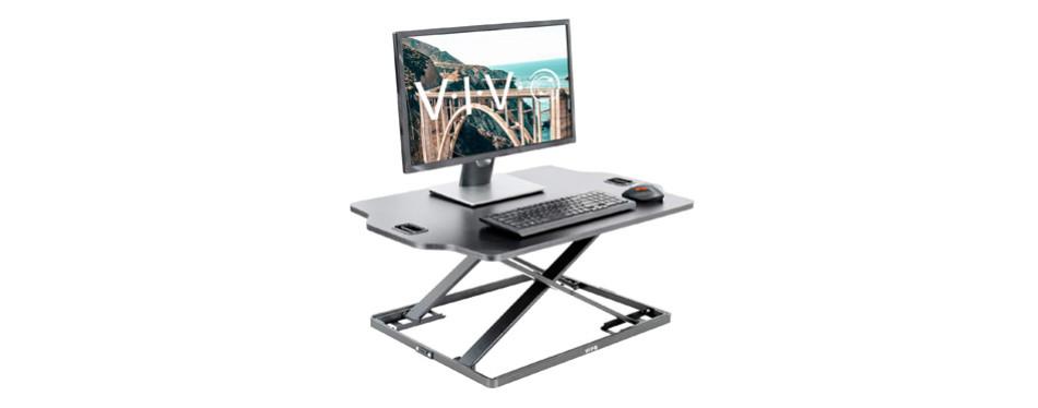 VIVO Black Single Top Height Adjustable Standing Desk