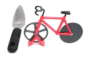 zxhao innovative stainless steel non stick cutting wheels bicycle pizza cutter