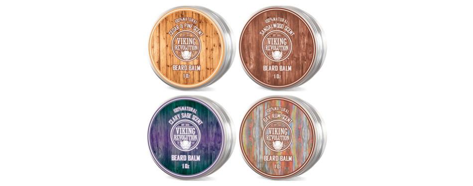 Viking Revolution 4 Beard Balm Variety Pack