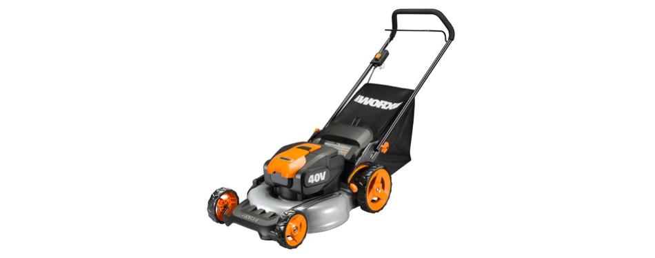 WORX WG960 20-inch 40 Volt Cordless Lawn Mower