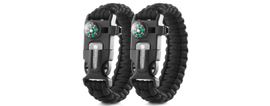 X-Plore Gear Double Emergency Paracord Survival Bracelets