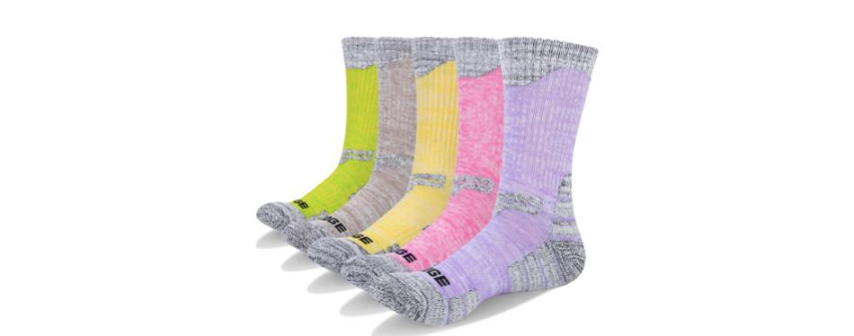 YUEDGE 5 Pairs Women's Hiking Socks