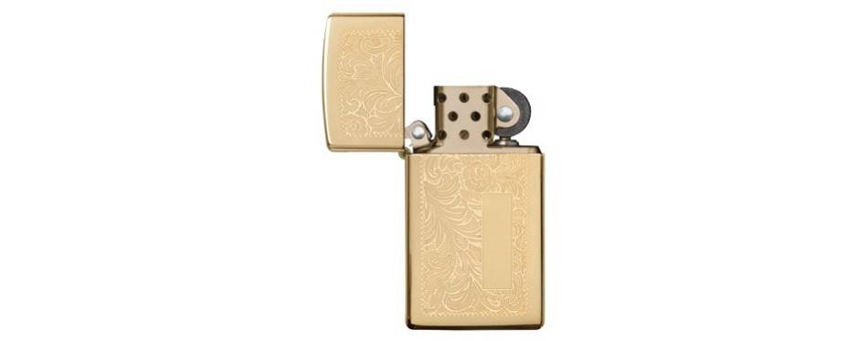 Zippo Lighter Venetian High Polish Brass