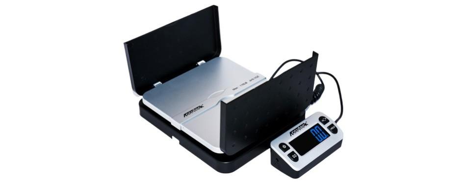 accuteck shippro 110lbs x 0.1 oz. digital shipping postal scale