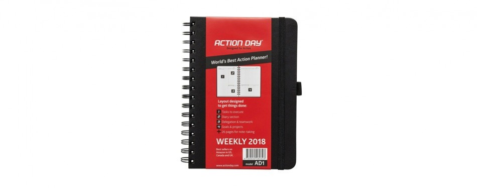 action day 2018 – agenda, calendar, organizer and goal journal