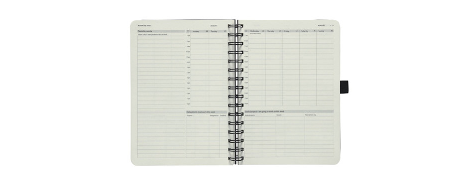 action day 2018 diary planner