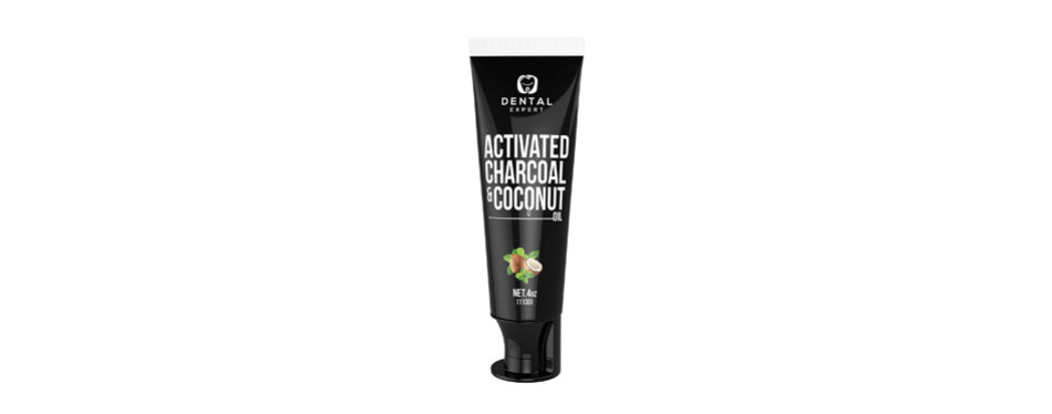 activated charcoal teeth whitening toothpaste with brush
