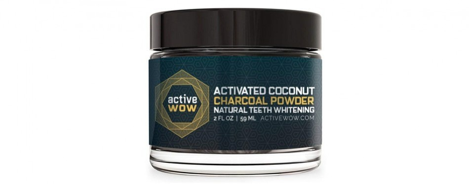 active wow natural teeth whitening kit charcoal powder