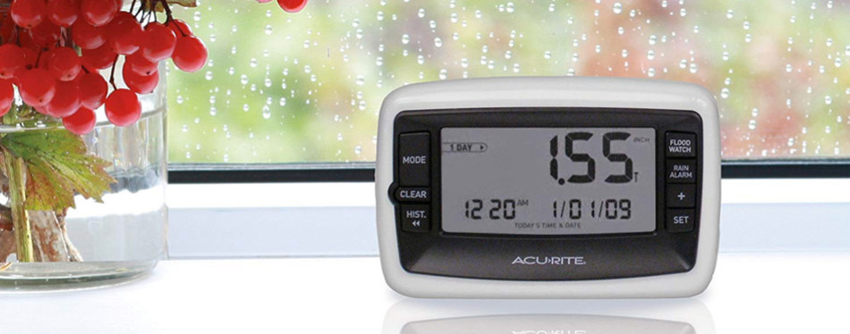 acurite wireless rain gauge with self emptying collector