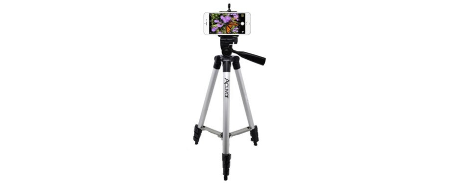 "acuvar 50"" universal tripod w/ smartphone attachment"