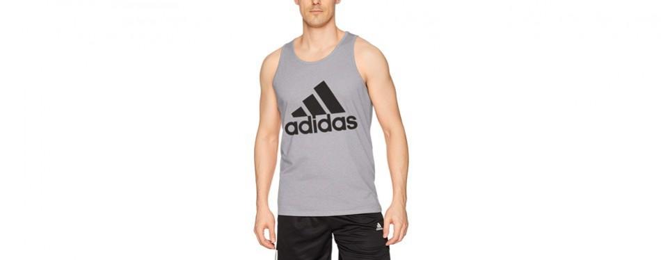 adidas men's athletics badge of sports tank top