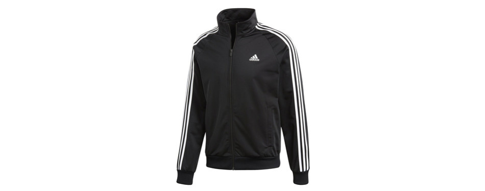 adidas men's essentials 3-stripe tricot running jacket