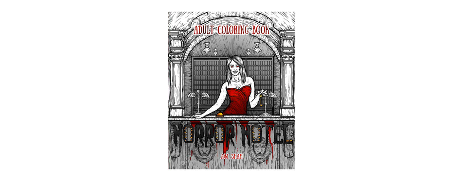 adult coloring book: horror hotel (volume 1)