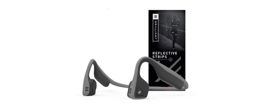 aftershokz trekz titanium wireless bone conduction headphones