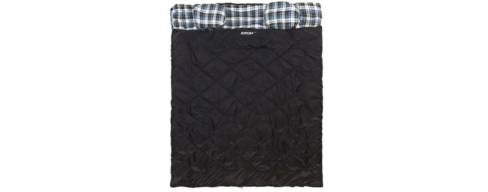 aircee two-person queen sleeping bag