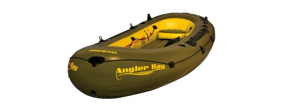 airhead angler bay inflatable 6 person boat