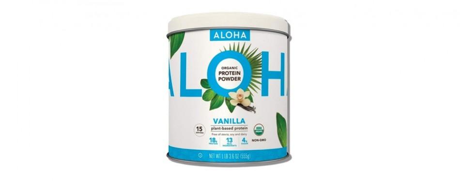 aloha organic plant based protein powder: vanilla