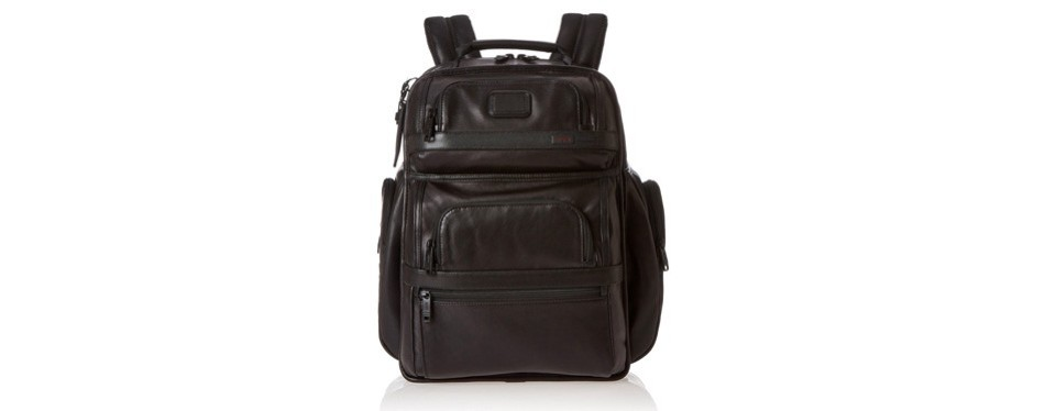 alpha 2 t-pass business class leather backpack
