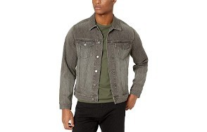 amazon essentials men's denim trucker jacket