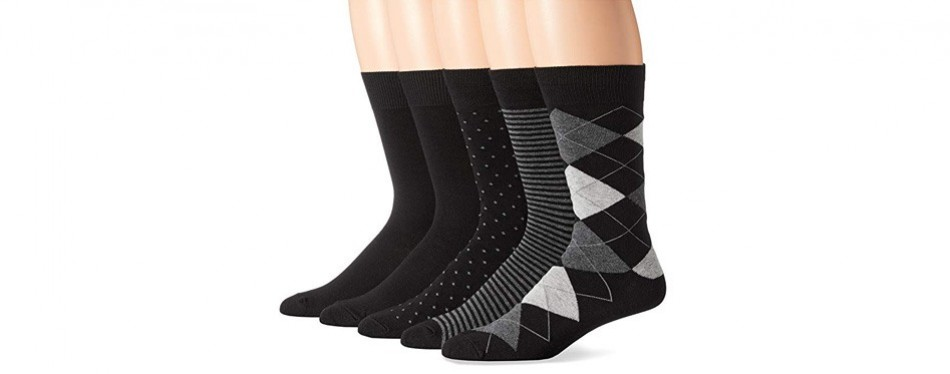 amazon essentials men's patterned dress socks