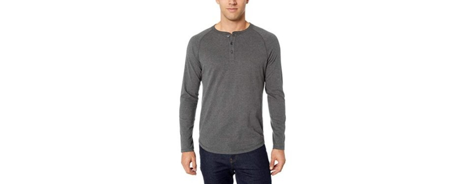 amazon essentials slim-fit long sleeve henley