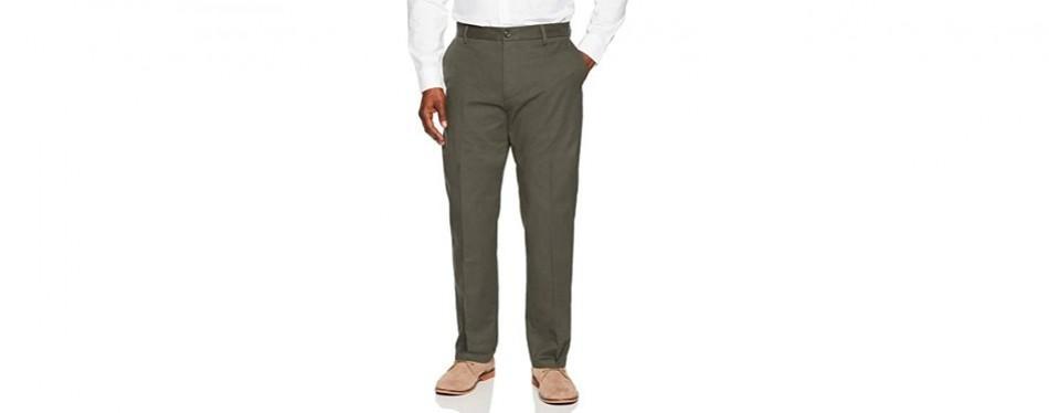 amazon essentials wrinkle-resistant chino pants