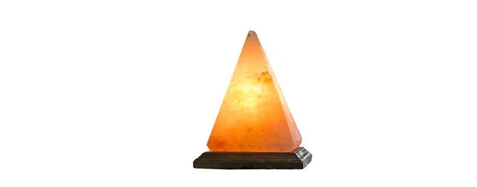 ambient salt lamp natural himalayan pyramid salt lamp