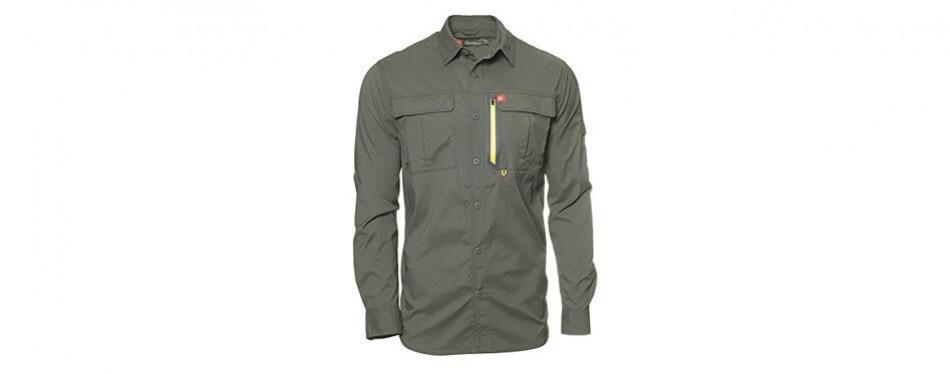 american outdoorsman the long-sleeve blackfoot river fishing shirt