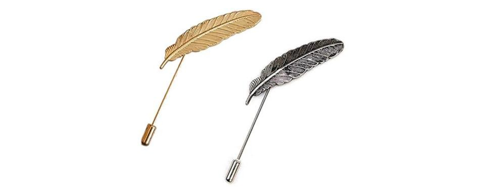 angelshop men metal brooch pin vintage lapel stick pin suit tie brooch badge