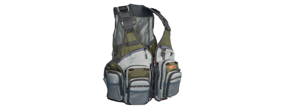 anglatech fly fishing vest pack for trout fishing gear and equipment