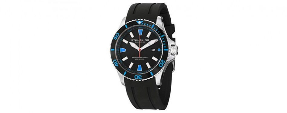 aquadiver regatta in blue stuhrling watch