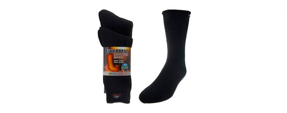 arctic extreme heat trapping insulated thermal socks