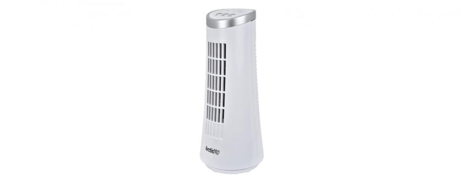 arctic-pro mini desk oscillating tower fan