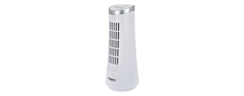 arctic-pro mini desk oscillating tower fan