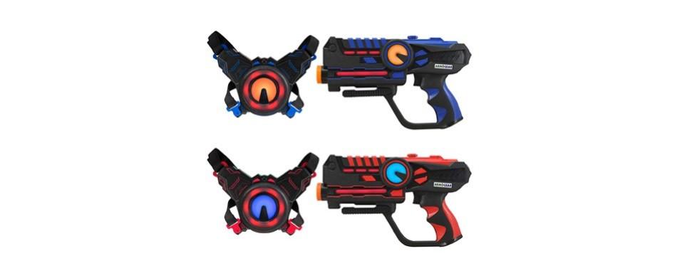 armogear infrared laser tag set guns and vests – laser battle game pack