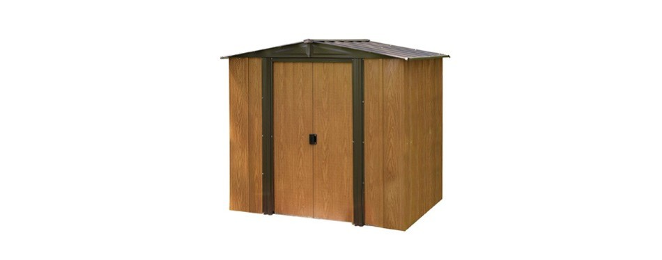arrow wl65 woodlake 6x5 foot steel storage shed