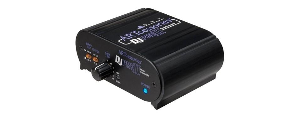 art djpreii pro audio djpre ii phono turntable preamplifier