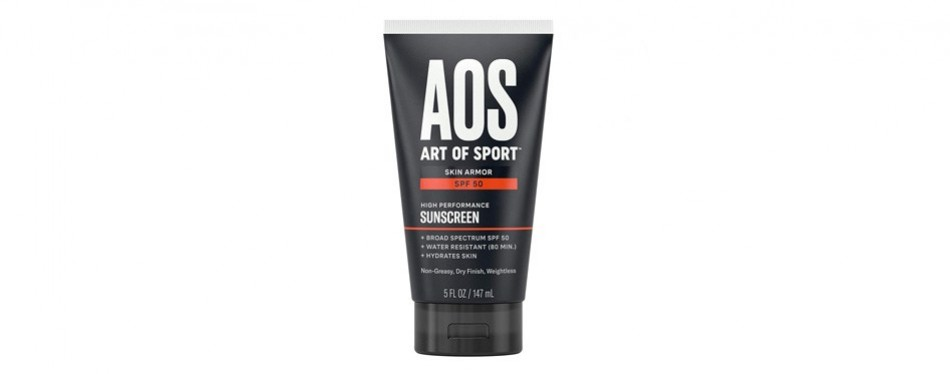art of sport skin armor sunscreen spf 50