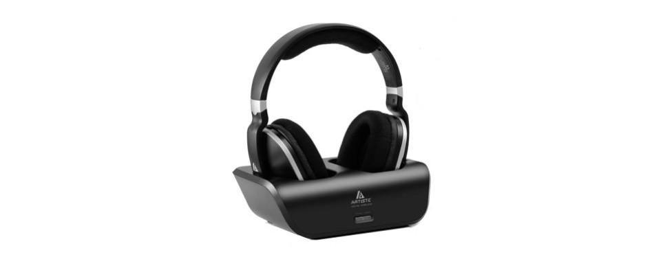 artiste wireless over-ear tv headphones