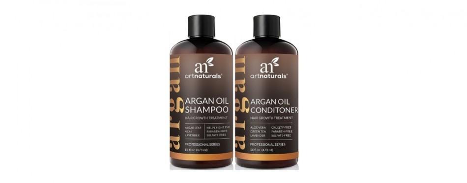 artnaturals moroccan argan oil hair loss shampoo & conditioner set