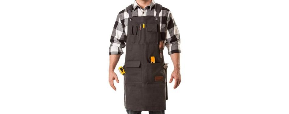 aspen workwear | heavy duty waxed canvas shop apron