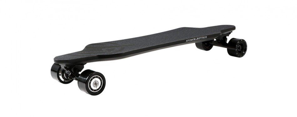 atom electric carbon longboard