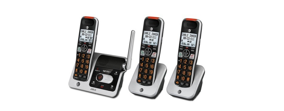 at&t crl82312 3-handset answering system